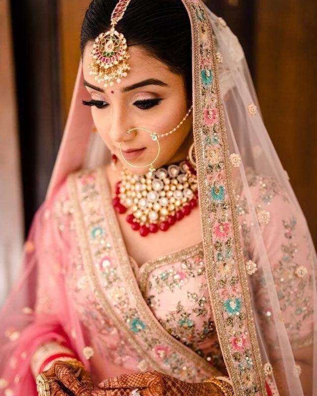 Blush pink eye makeup